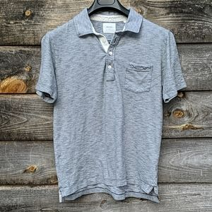 Billy Reid Pensacola Polo Shirt Short Sleeve Slim